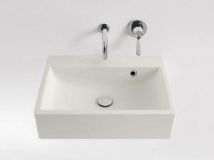 Agape Block lavabo mural sin agujeros para griferia ACER720M0RZ
