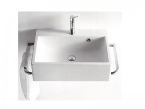 Agape Block lavabo mural con 1 agujero para griferia ACER720M1RZ