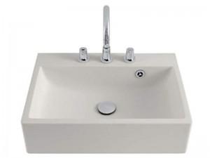 Agape Block lavabo mural con 3 agujeros para griferia ACER720M3RZ