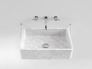 Agape Carrara lavabo mural con estructura ACER0730S