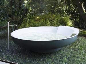 Agape Outdoor Ufo bañera freestanding AVAS0906EZG