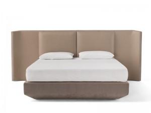 Amura Panis Bed cama doble en cuero PANISBED596.604