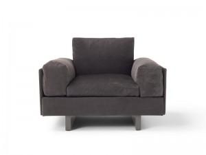 Amura Tau sillón en cuero TAU010