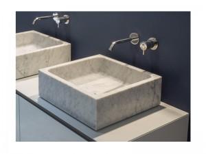 Antonio Lupi Blokko lavabo sobre encimera BLOKKO