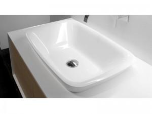 Antonio Lupi lavabo empotrado en Ceramilux BULBO