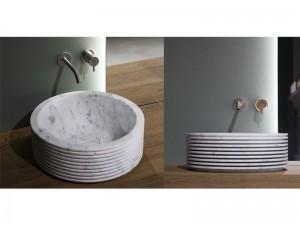 Antonio Lupi Introverso lavabo sobre encimera de marmol INTROVERSO45