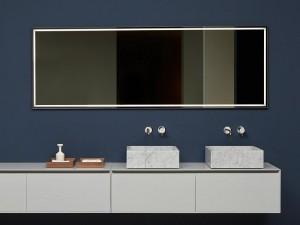 Antonio Lupi Fila espejo rectangular con led blanco FILA75W