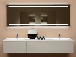 Antonio Lupi Spio espejo rectangular con 2 led blancos SPIO150W
