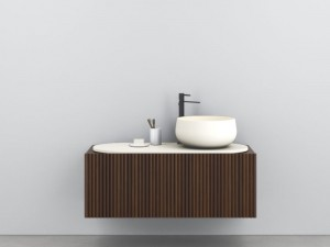 Cielo Delfo mueble mural con lavabo
