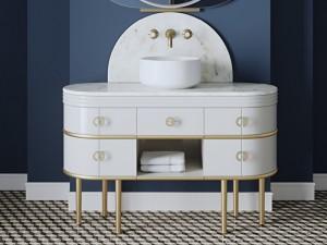Devon & Devon Scottie Vanity Unit mueble con lavabo SCOTTIECRCRXOTSATP