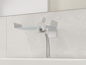 Dueacca Kit 03 Indoor grifo para lavabo monomando con soporte mural 4120038101