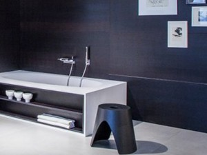 Falper Vascamisura bañera de pié con compartimiento abierto en madera VMI
