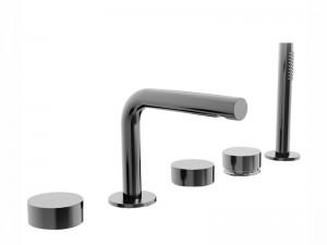 Fantini AF/21 grifo para bañera 5 agujeros con desviador y ducha de mano extraible A265