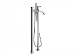 Fantini AL/23 grifo para bañera de pié con desviador y ducha de mano B280B