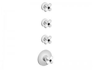Fantini I Balocchi mezclador termostatico para ducha 4 agujeros con 3 valvulas de cierre 0603B