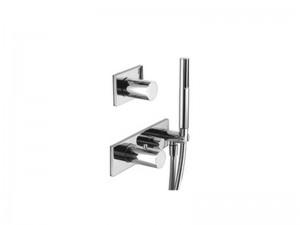 Fantini Milano mezclador termostatico para ducha con 2 valvulas de cierre y ducha de mano 4712B