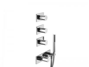 Fantini Milano mezclador termostatico para ducha con 4 valvulas de cierre y ducha de mano 4714B