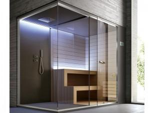 Hafro Ethos sauna con ducha SET50074-1D010