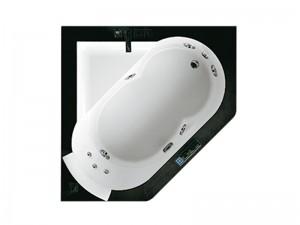 Jacuzzi Aura Corner 140 Stone bañera de hidromasaje empotrada 9F43811