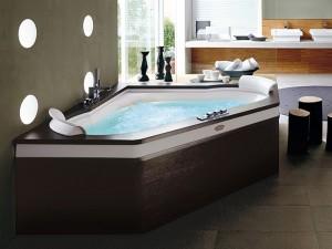 Jacuzzi Aura Corner 160 Wood bañera de hidromasaje angular 9H43484A