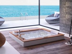Jacuzzi Aura Plus Wood bañera de hidromasaje empotrada 9H43334