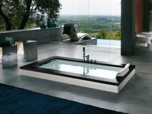 Jacuzzi Aura Uno Wood bañera de hidromasaje empotrada 9F43529SX
