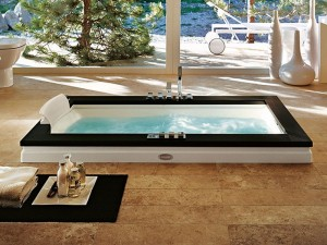 Jacuzzi Aura Uno Stone bañera de hidromasaje empotrada 9F43809SX