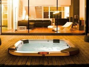 Jacuzzi Santorini Pro Sound minipiscina de hidromasaje empotrada indoor y outdoor 9444-83552