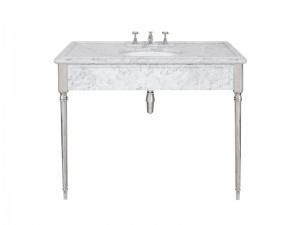 Lefroy Brooks Edwardian consola de marmol Carrara LB6334WH