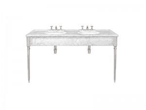 Lefroy Brooks Edwardian consola de marmol Carrara doble LB6434WH
