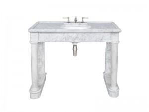 Lefroy Brooks Russborough consola de marmol Carrara LB6331WH
