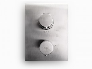 Paffoni Light grifo termostatico para ducha con desviador LIQ518ST - Simil Acero Satinado