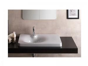 Scarabeo Fuji lavabo de encaje con estante a la derecha 6014