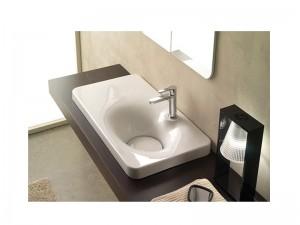 Scarabeo Fuji lavabo de encaje con estante a la izquierda 6015
